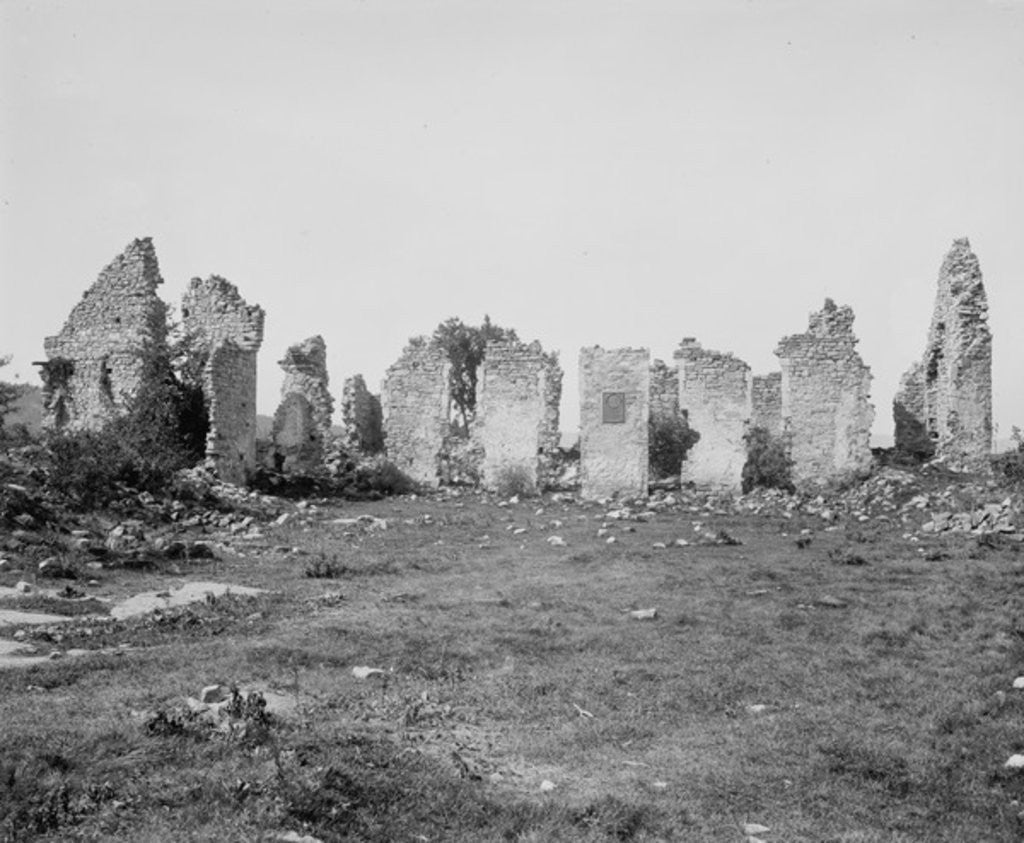 Detail of Ruins of Fort Ticonderoga, Lake Champlain, N.Y. by Detroit Publishing Co.