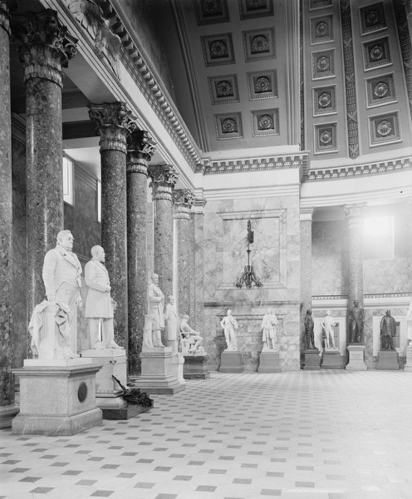 Detail of A Corner in Statuary Hall, the Capitol at Washington, D.C. by Detroit Publishing Co.