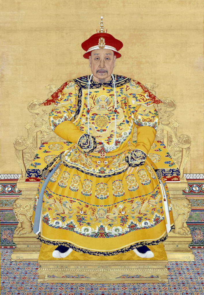 Detail of Emperor Qianlong in Old Age by Chinese School
