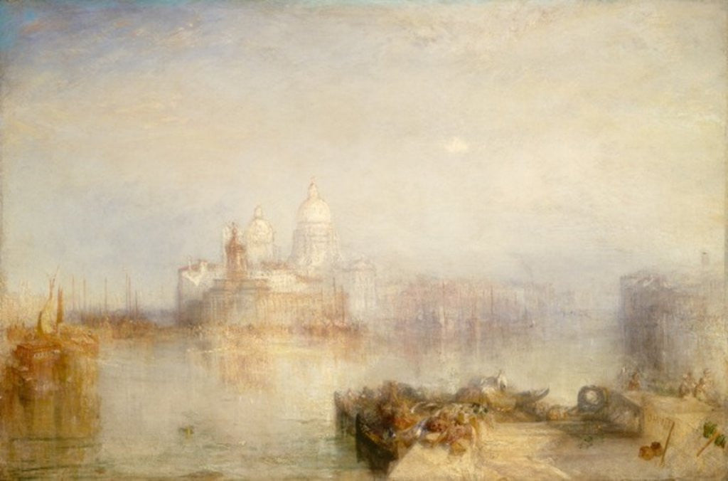 Detail of The Dogana and Santa Maria della Salute, Venice by Joseph Mallord William Turner
