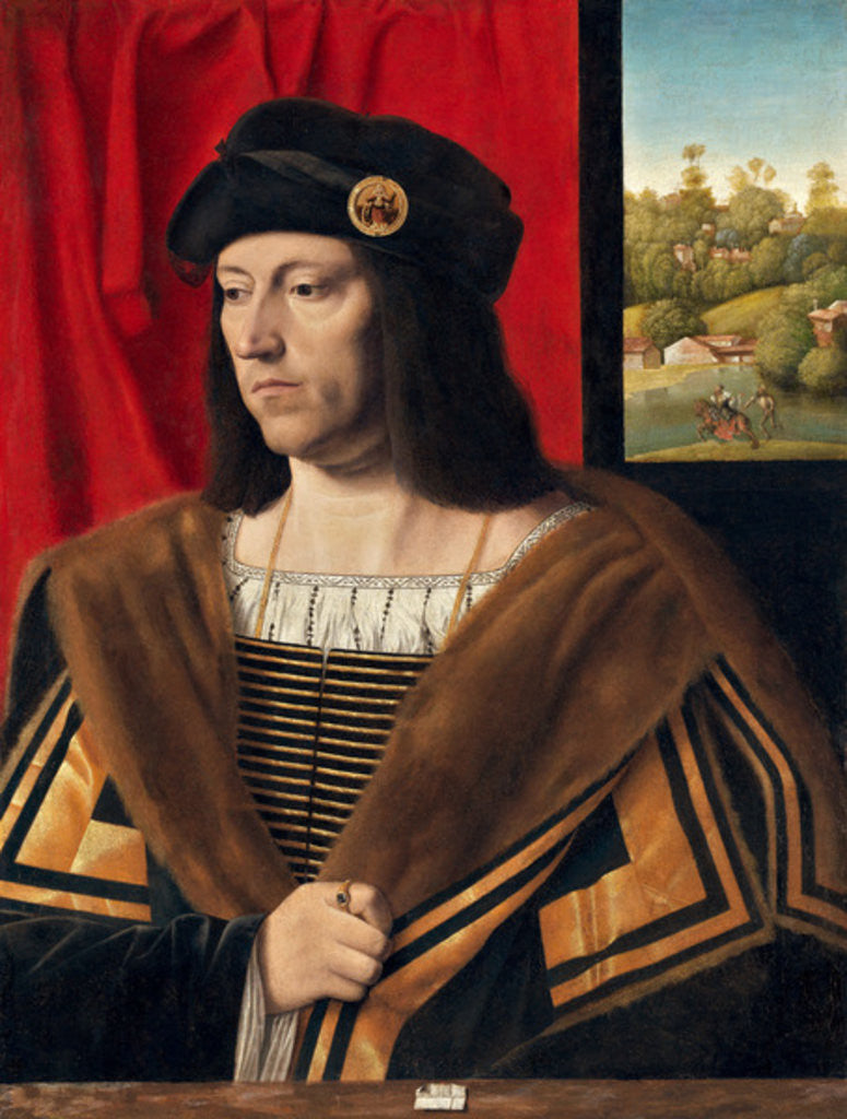 Detail of Portrait of a Gentleman by Bartolomeo Veneto