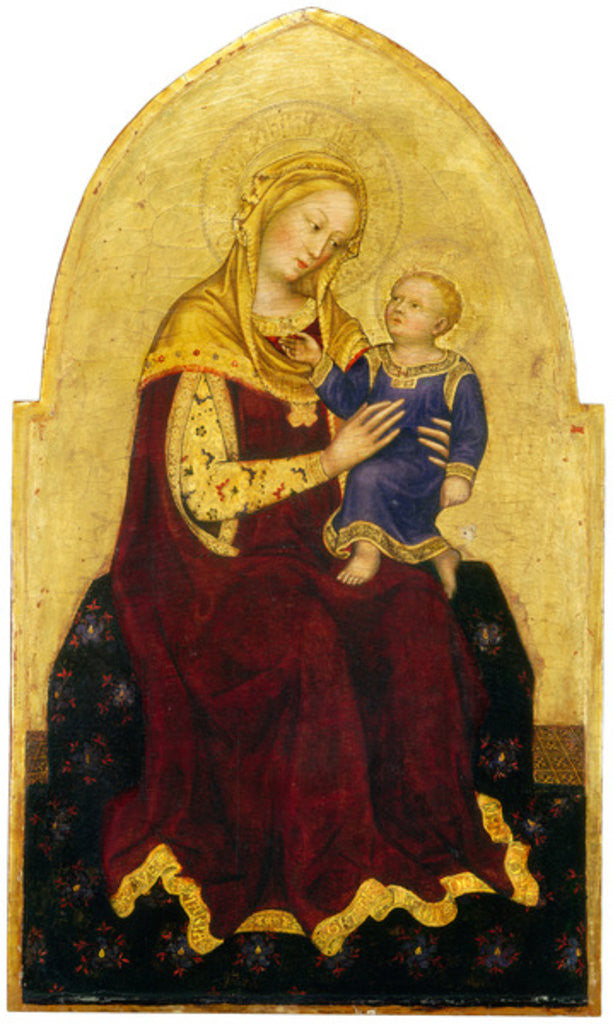 Detail of Madonna and Child Enthroned by Gentile da Fabriano