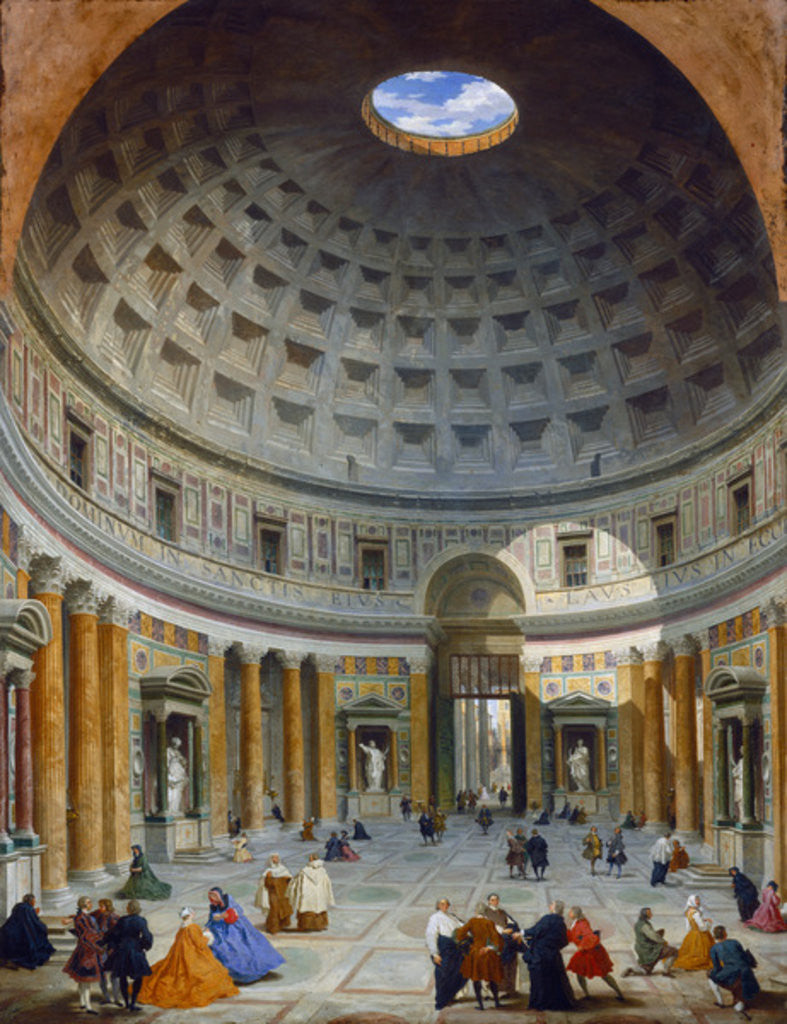Detail of Interior of the Pantheon, Rome by Giovanni Paolo Pannini or Panini