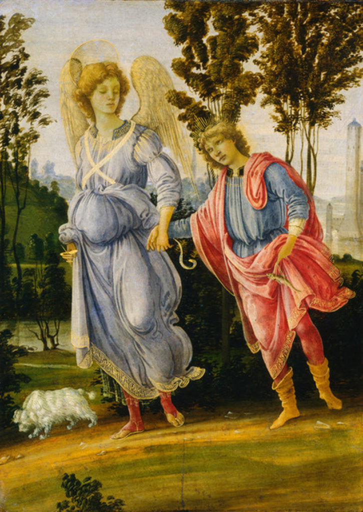 Detail of Tobias and the Angel by Filippino Lippi