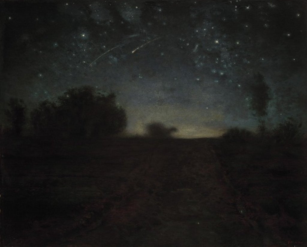 Detail of Starry Night by Jean-Francois Millet
