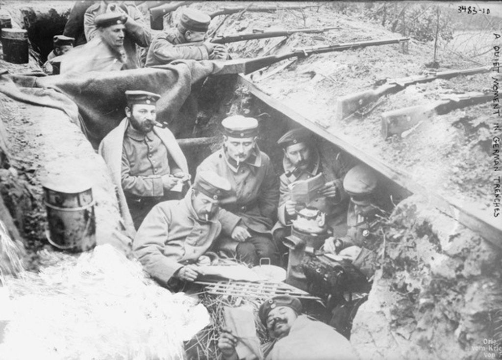 A quiet moment in German trenches