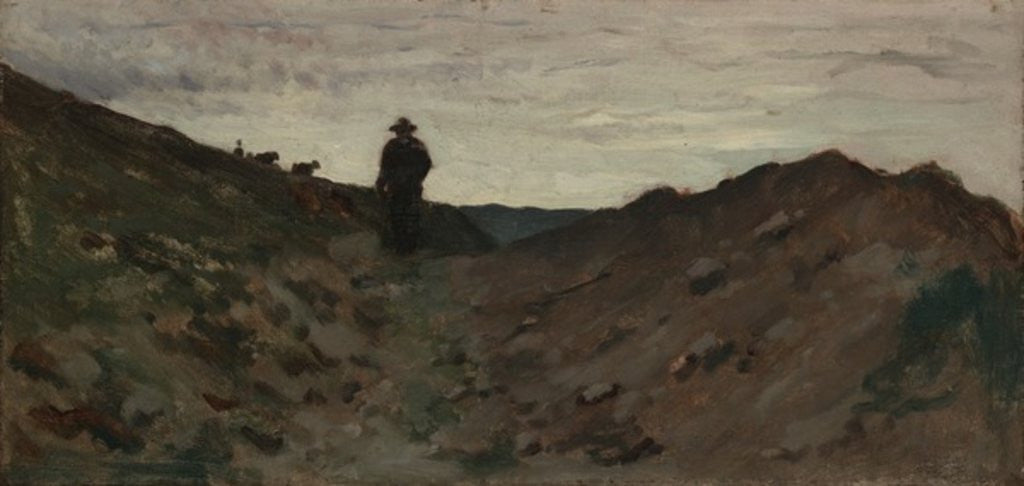 Detail of Landscape with Figure by Jean Baptiste Camille Corot