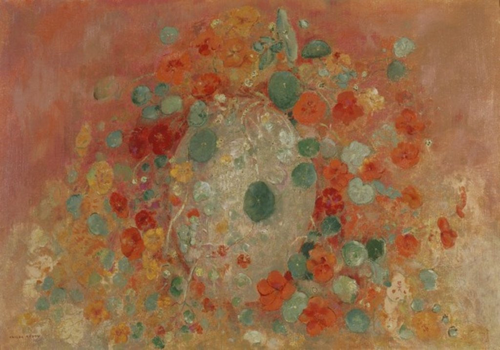 Detail of Nasturtiums by Odilon Redon