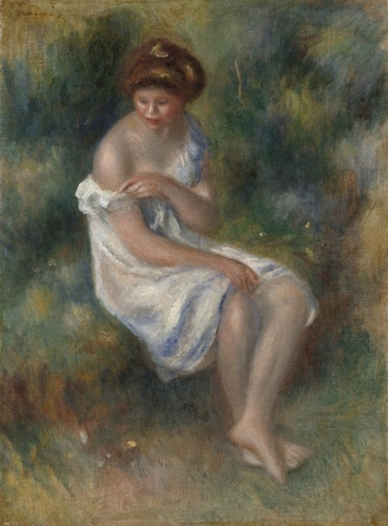 Detail of The Bather by Pierre Auguste Renoir