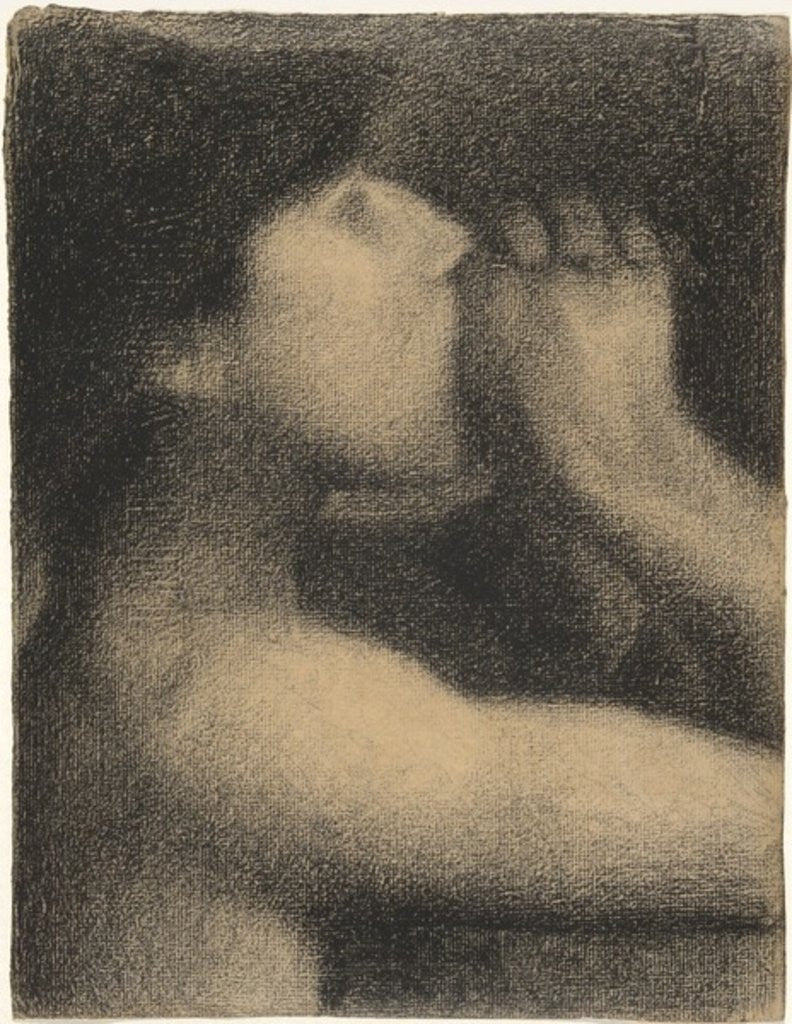 Detail of Echo, Study for 'Bathers at Asnieres' by Georges Pierre Seurat