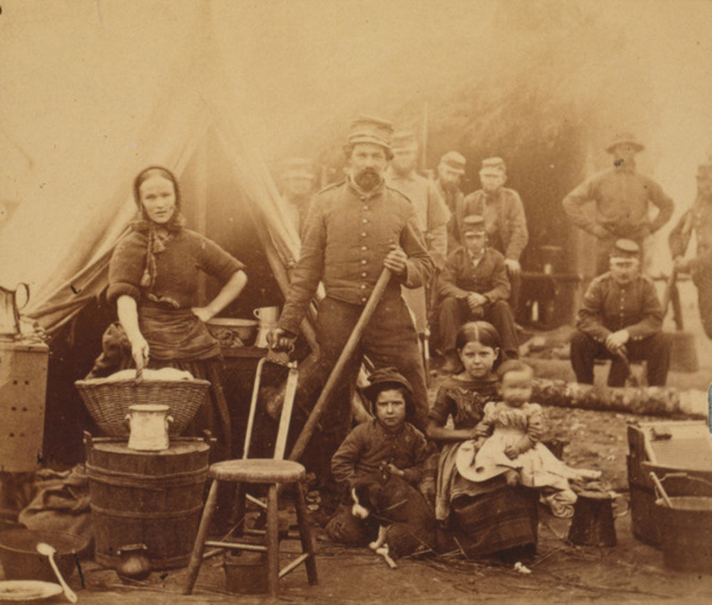 Detail of Camp of 31st Pennsylvania Infantry near Washington, D.C by American Photographer
