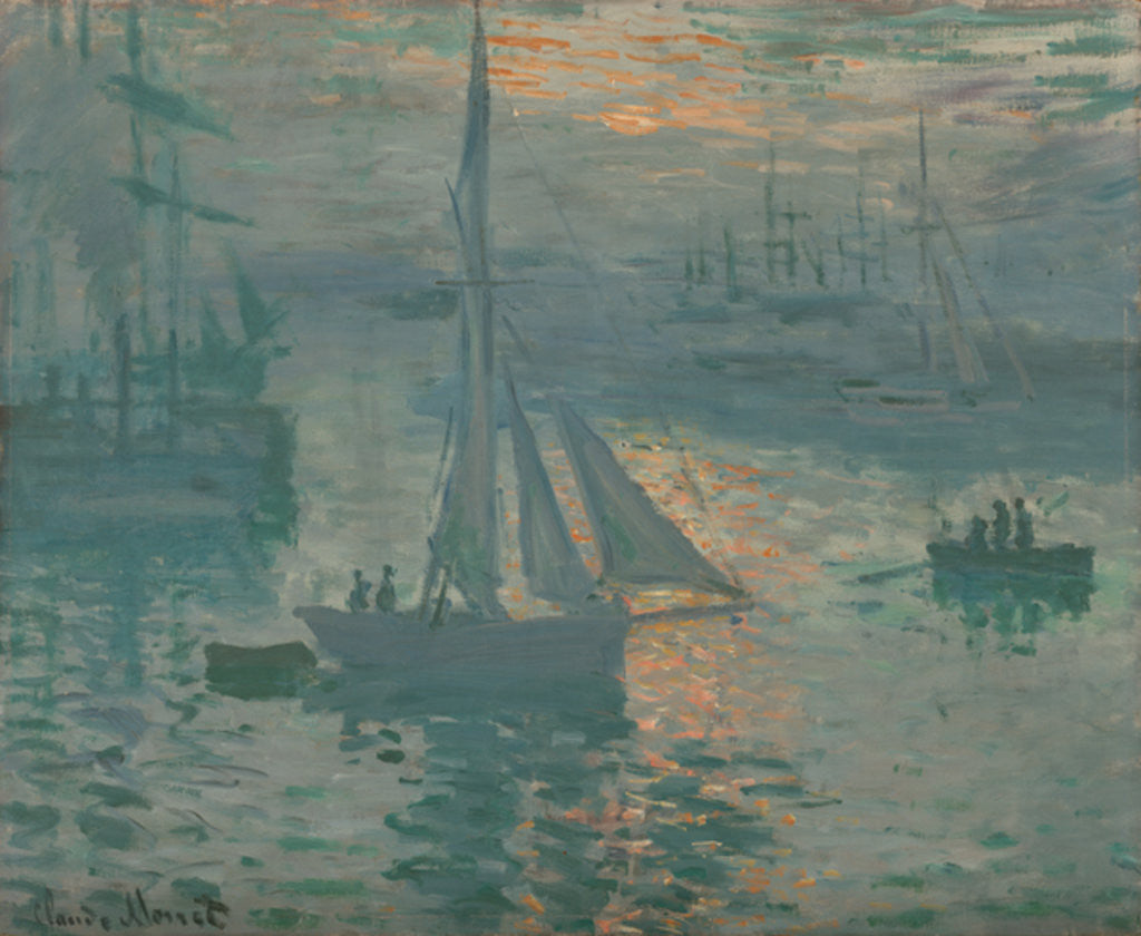 Detail of Sunrise (Marine) by Claude Monet