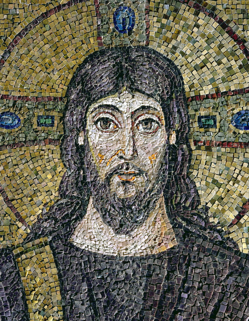Detail of The face of Christ by Byzantine School