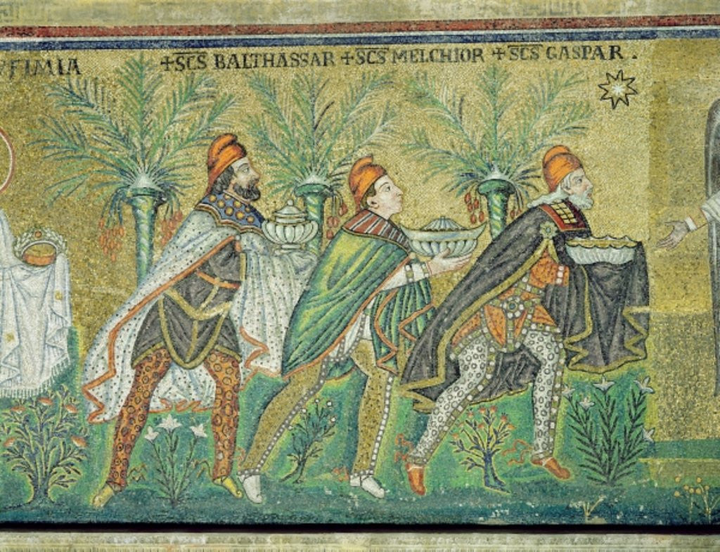 Detail of The procession of the three kings by Byzantine School