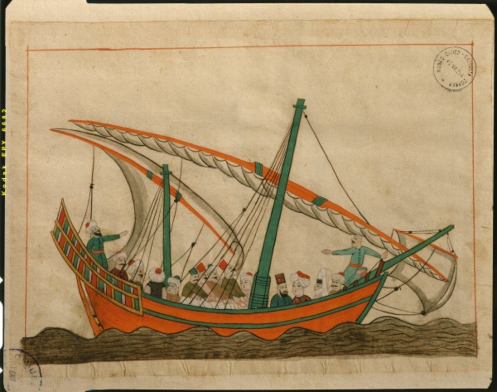 Detail of Miniature from the 'Memorie Turchesche' depicting a passenger carrying ship by Venetian School