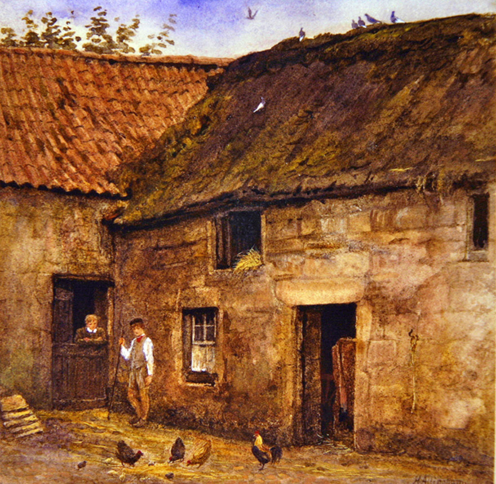 Detail of The Farmyard by Helen Allingham