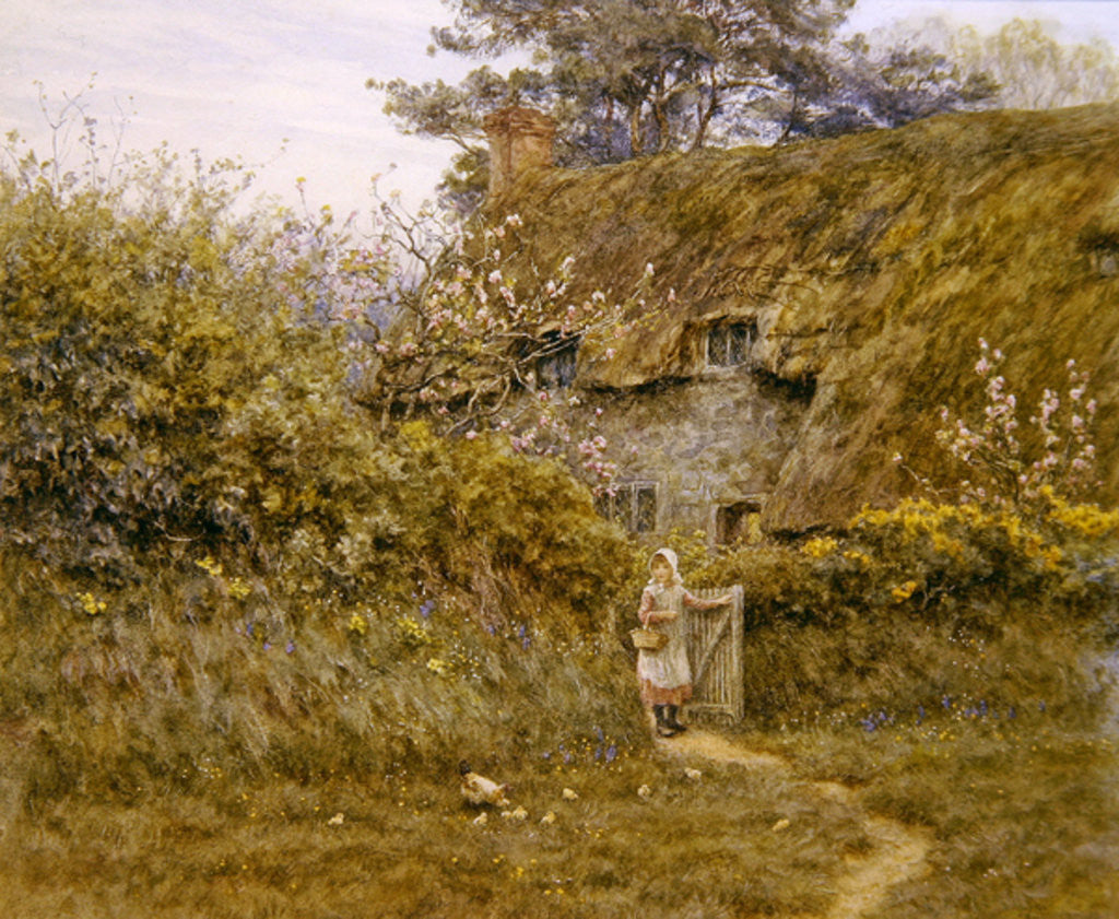 Detail of Springtime by Helen Allingham