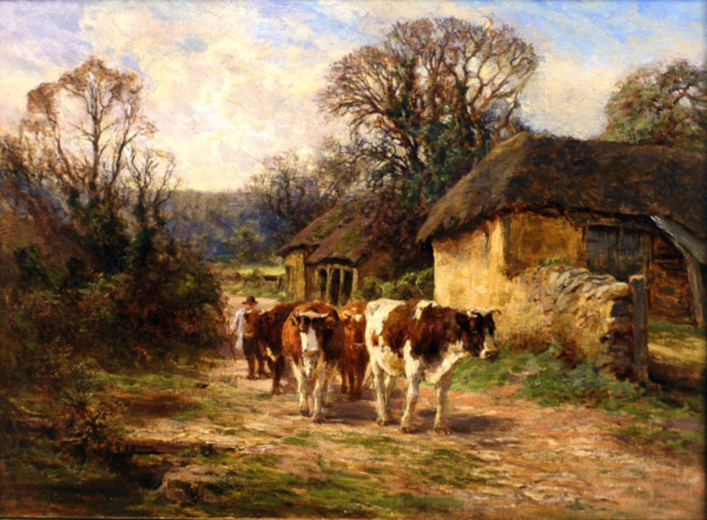 Detail of By the Barn by Charles James Adams