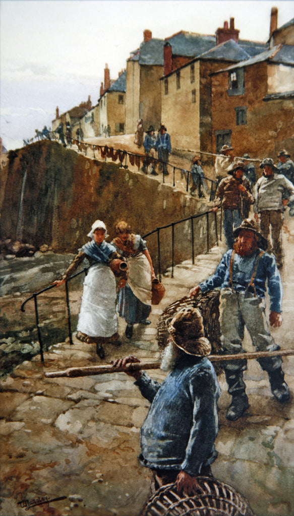 Detail of The Quayside, Newlyn by Walter Langley