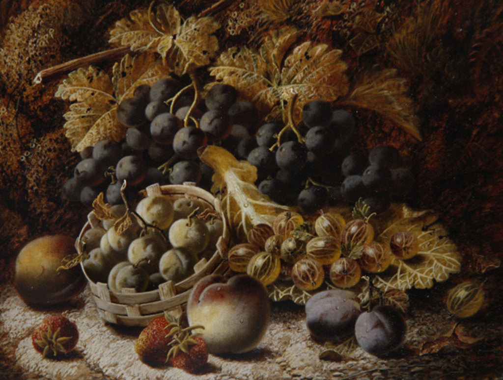 Detail of Still Life of Fruit by Oliver Clare
