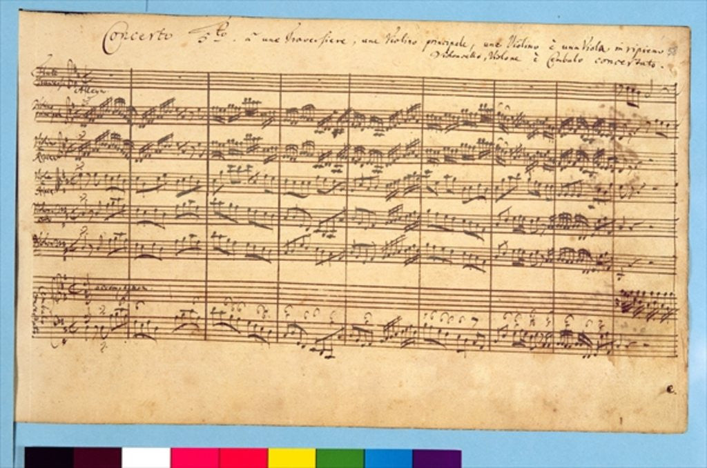 Detail of The Brandenburg Concertos, No.5 D-Dur by Johann Sebastian Bach