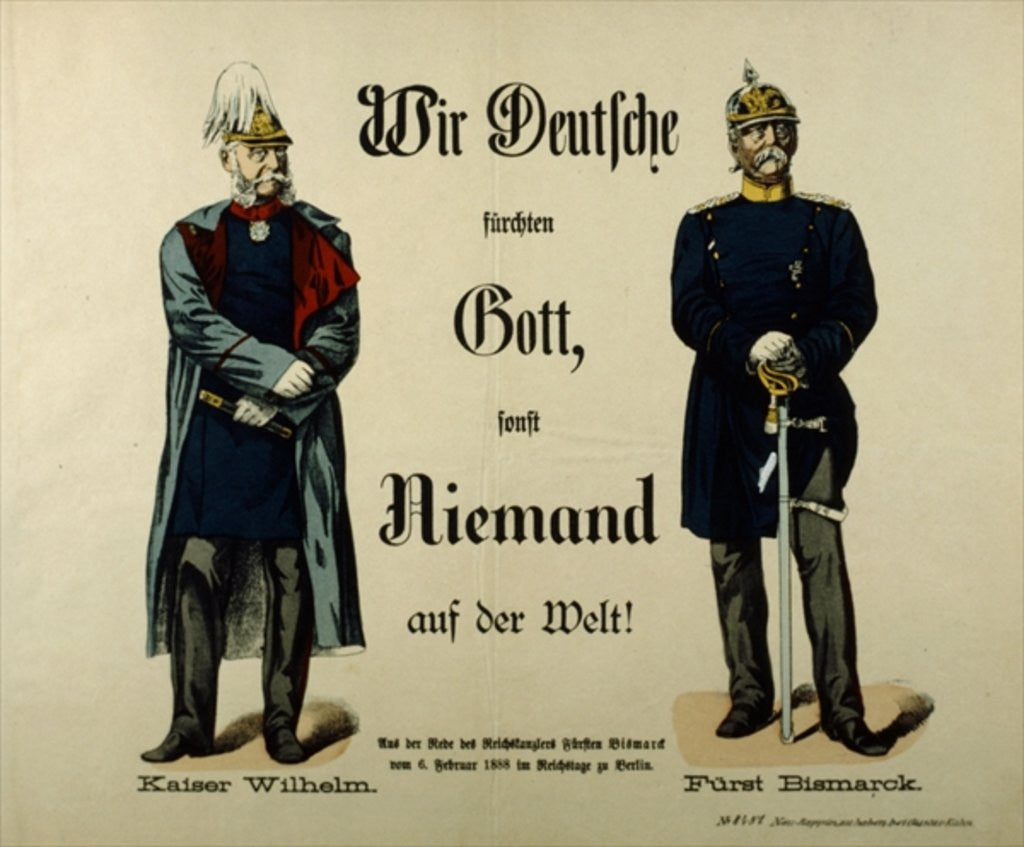 Detail of Emperor Wilhelm I and Prince Bismarck by German School