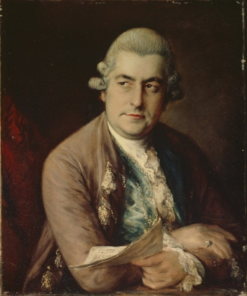 Detail of Johann Christian Bach by Thomas Gainsborough
