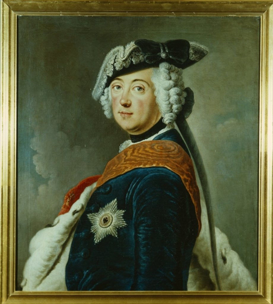 Detail of Frederick II the Great of Prussia by German School