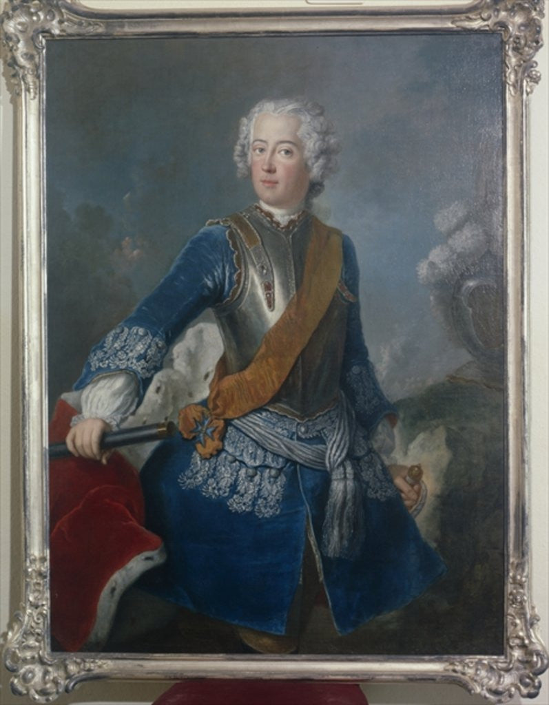 Detail of The Crown Prince Frederick II by Antoine Pesne