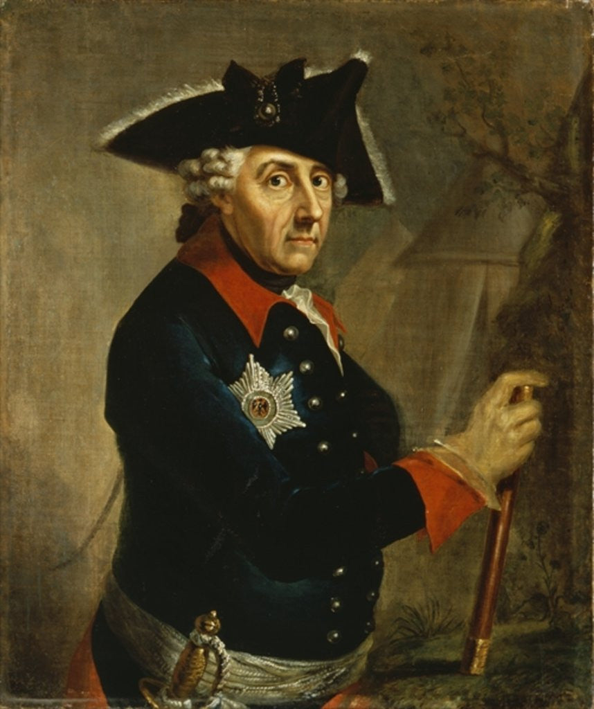 Detail of Frederick II the Great of Prussia by Anton Graff