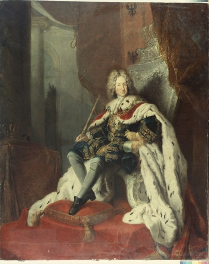 Detail of King Frederick I of Prussia by Antoine Pesne