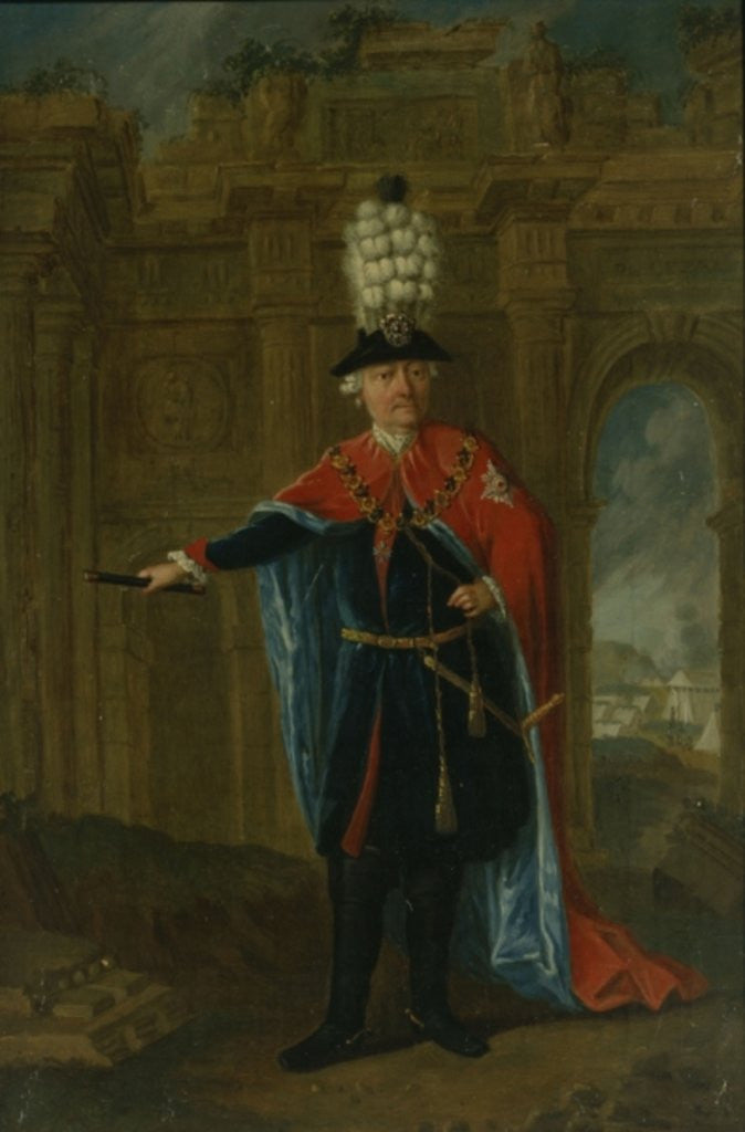 Detail of Frederick the Great dressed in the costume of the Order of the Black Eagle by German School