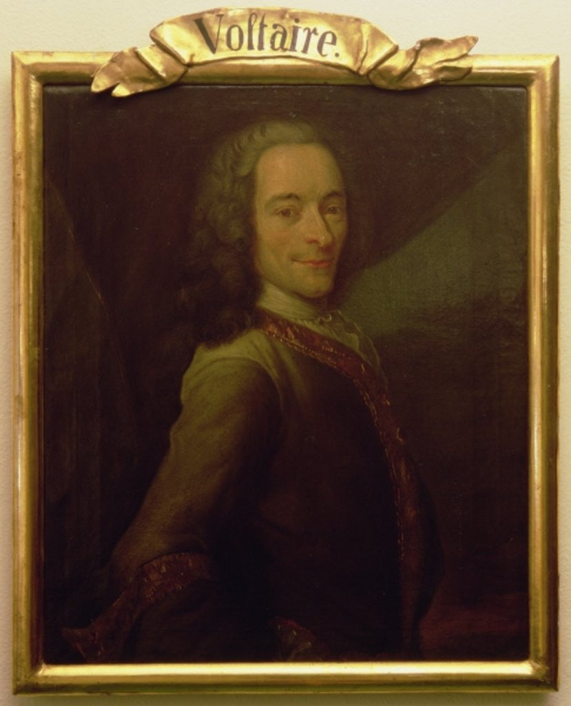 Detail of Portrait of Voltaire by French School
