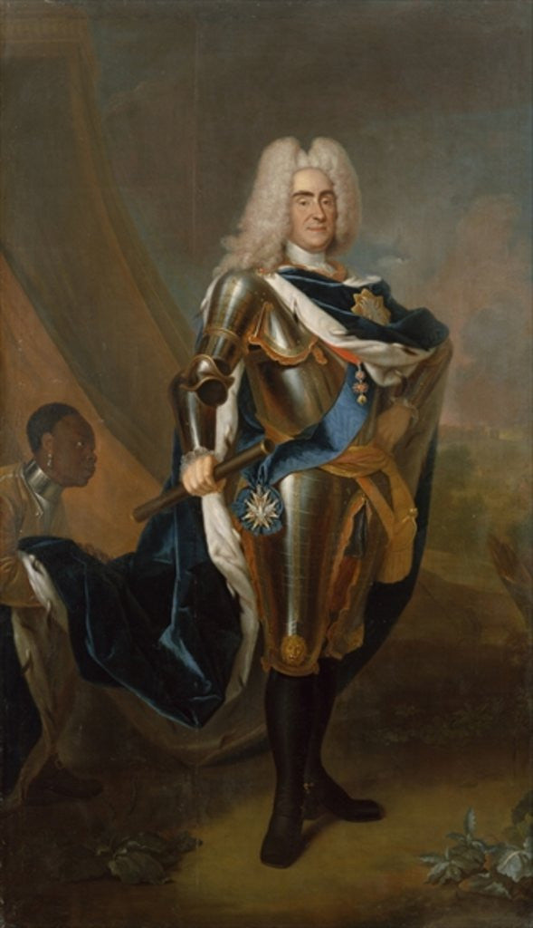 Detail of King Augustus II of Poland, before 1730 by Louis de Silvestre