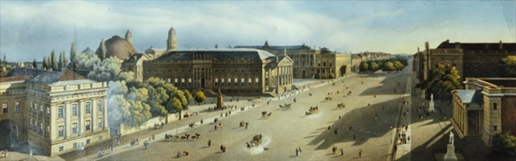 Detail of Unter den Linden from the Armoury by F. von Laer