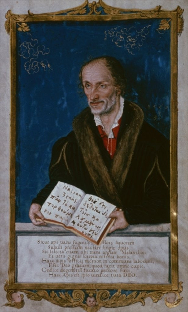 Detail of Portrait of Philipp Melanchthon by Lucas