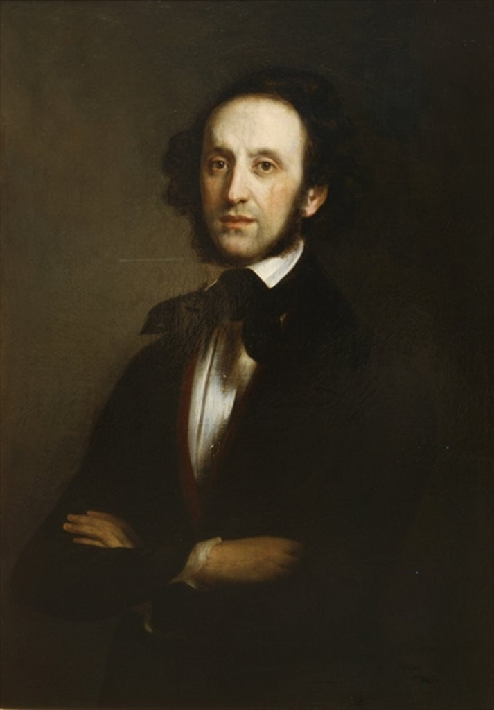 Detail of Felix Mendelssohn by Eduard Magnus
