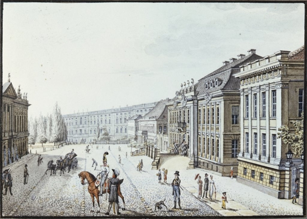 Detail of View of the Royal Palace, Berlin by F.A. Calau