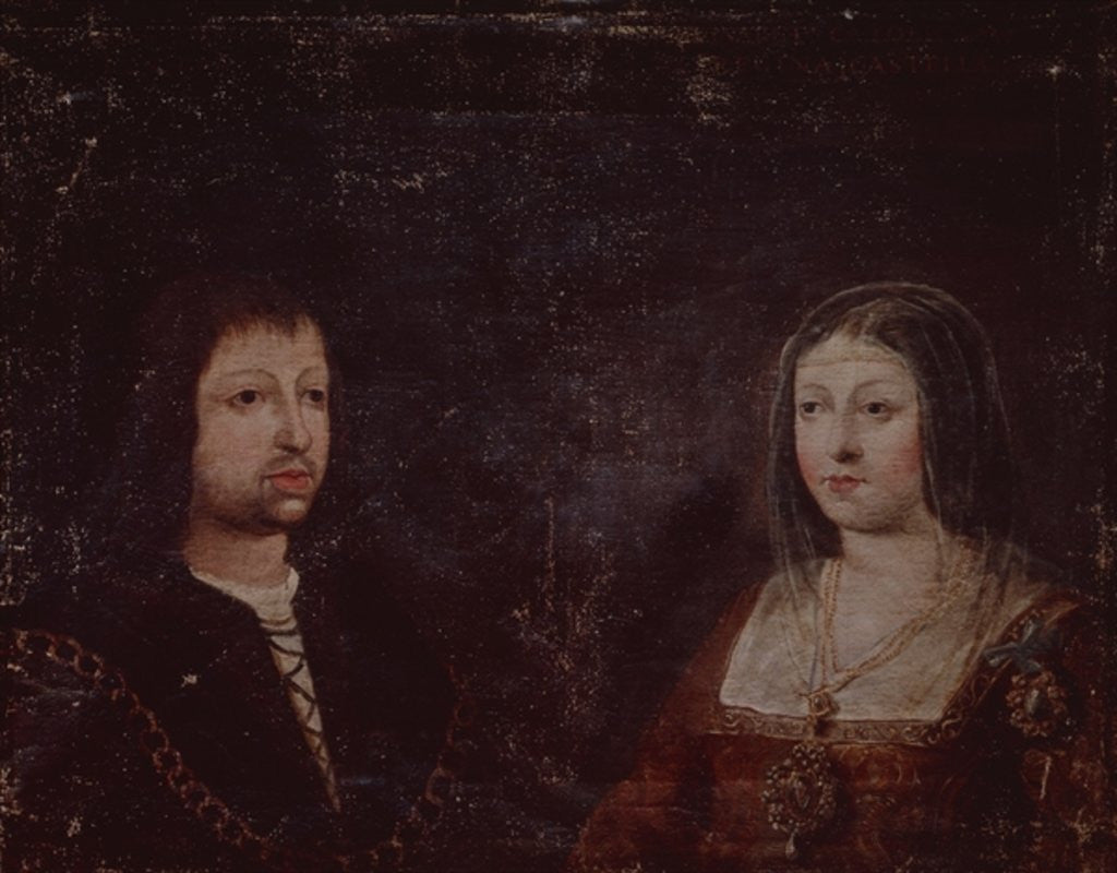 Detail of Ferdinand II of Aragon and Isabella I of Castile by Spanish School