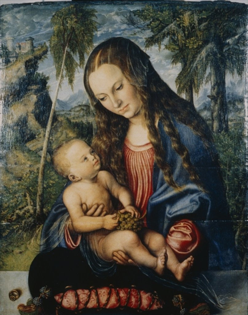 Detail of Madonna under the fir tree by Lucas the Elder Cranach