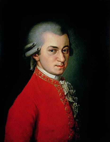 Detail of Wolfgang Amadeus Mozart by Barbara Krafft