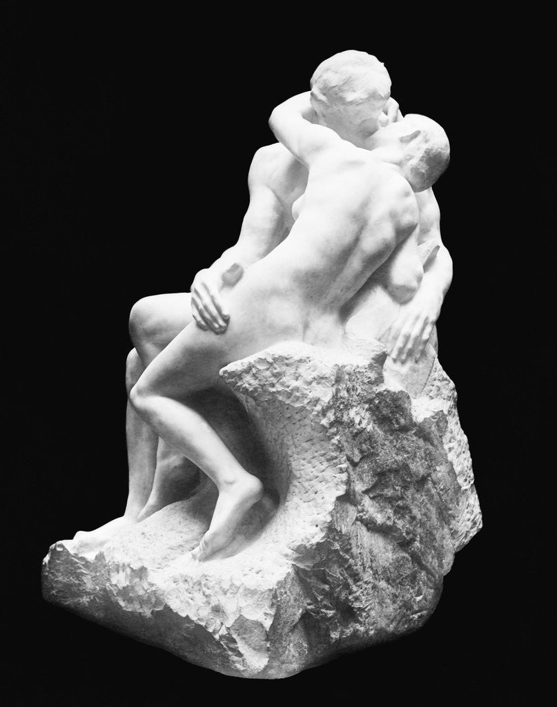 Detail of The Kiss by Auguste Rodin