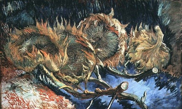 Detail of Four Withered Sunflowers by Vincent van Gogh
