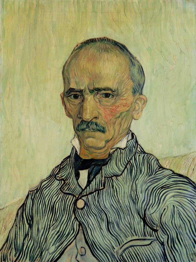 Detail of Portrait of Superintendant Trabuc in St. Paul's Hospital by Vincent van Gogh