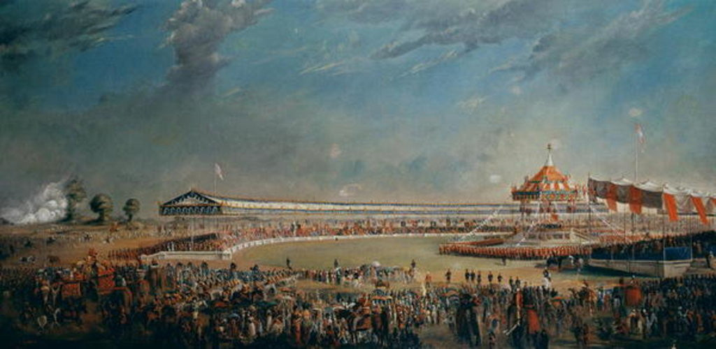 Detail of Delhi Durbar, celebration on the occasion of Queen Victoria becoming Empress of India by Alexander Caddy