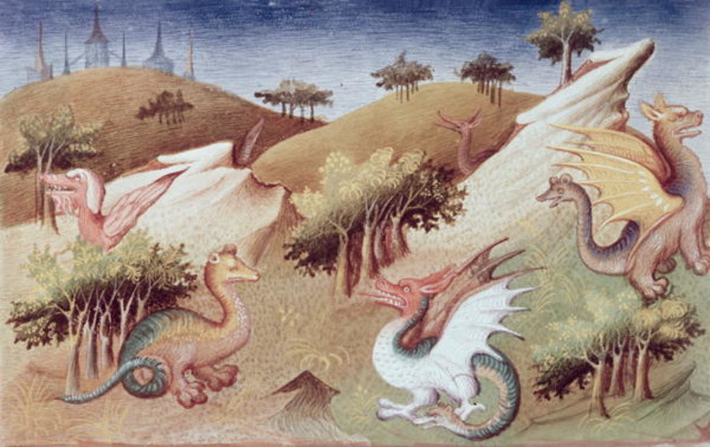 Detail of Dragons and other beasts by Boucicaut Master