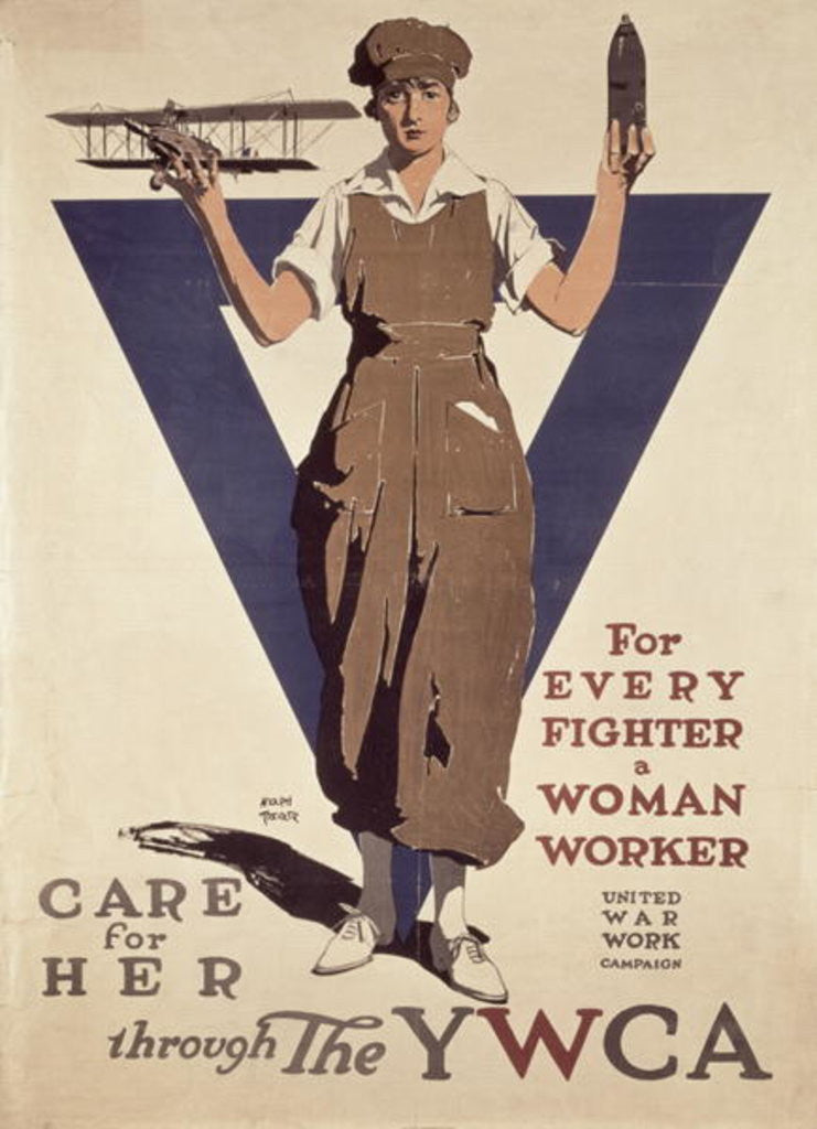 Detail of For Every Fighter a Woman Worker by Adolph Treidler
