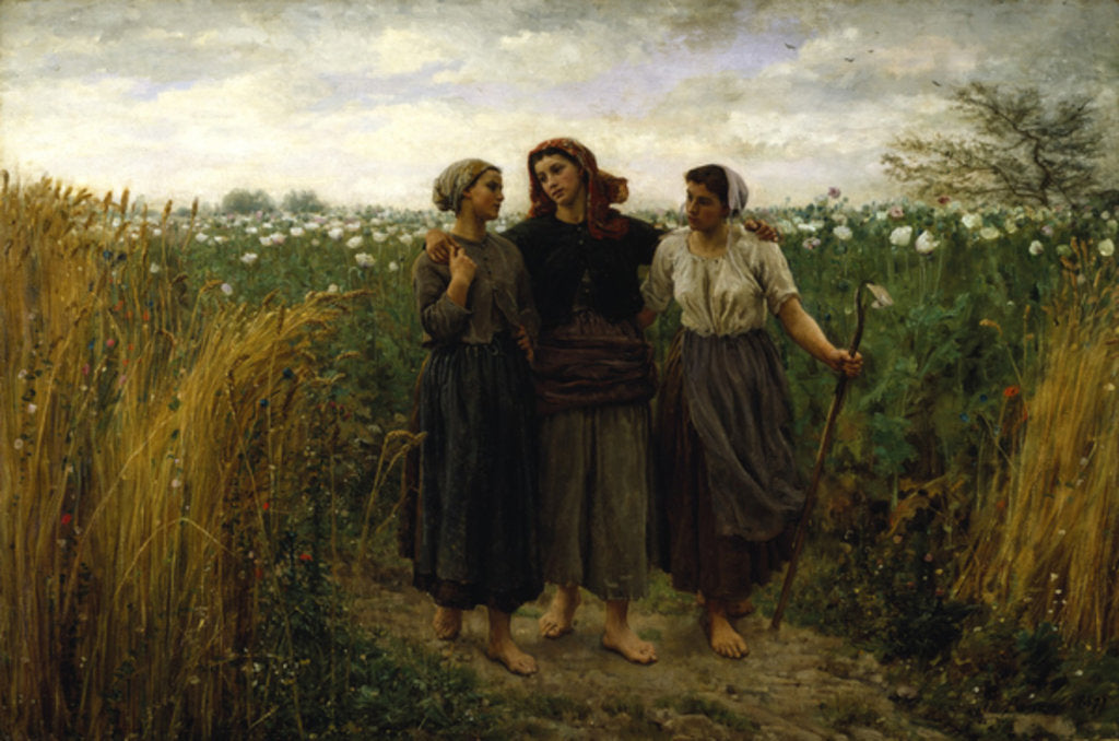 Detail of Returning from the Fields, 1871 by Jules Breton