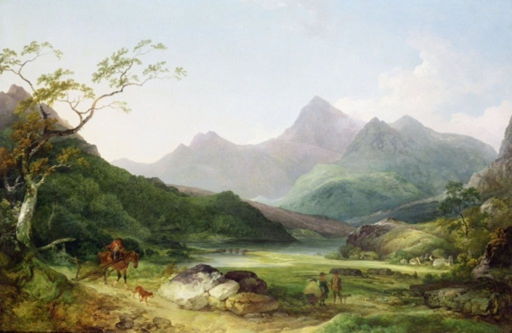 Detail of A View of Snowdon from Capel Curig by Philip James de Loutherbourg