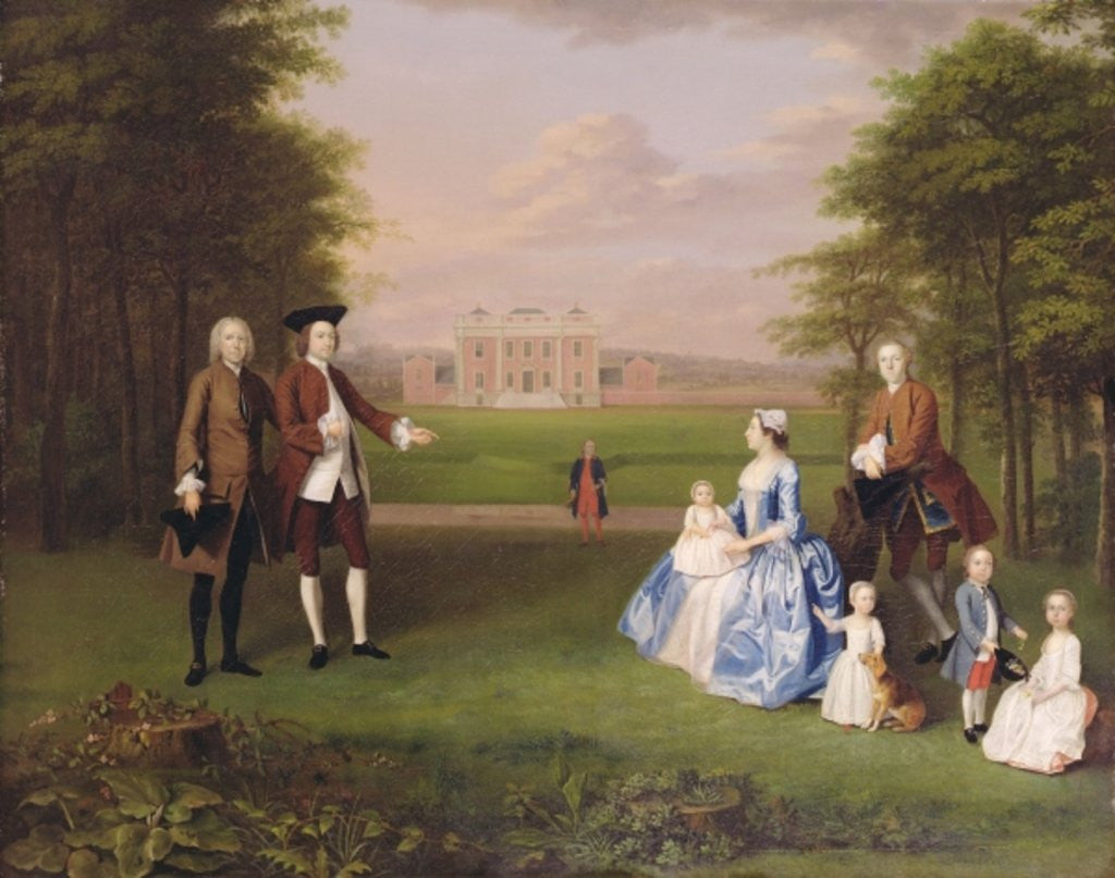 Detail of Robert Gwillym of Atherton and his Family by Arthur Devis